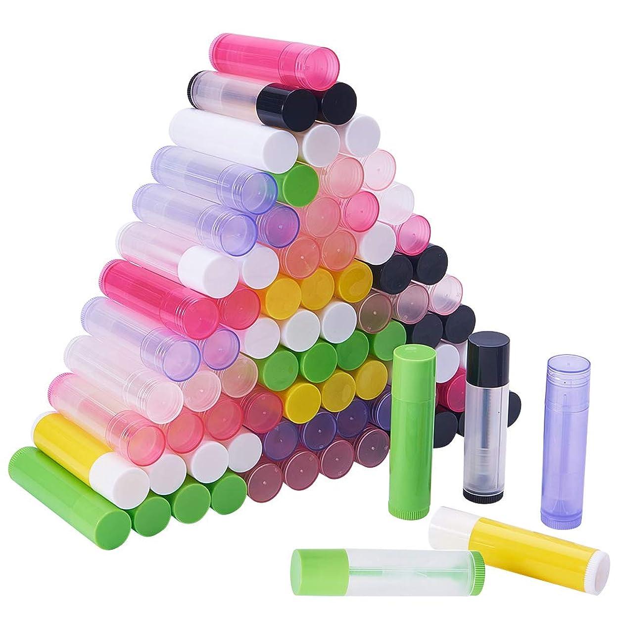 相関する薄汚いこんにちはPH PandaHall 約90本 15色 リップ クリーム チューブ 5g容量 回転式 ミニ 詰め替え ボトル 透明&非透明 小分けボトル リップスティック 口紅 包装材料 繰り出し容器 手作りコスメ 混合色