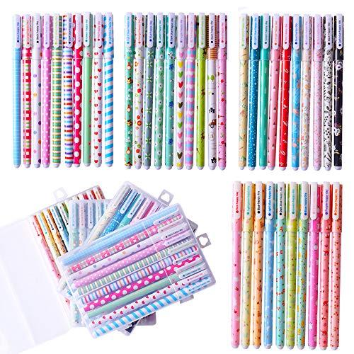 Gudotra 40pcs Bolígrafo de Colores de Tinta Gel Bolígrafos Infantiles Regalo de Cumpleaños Navidad para Niños (4 Cajas Total)