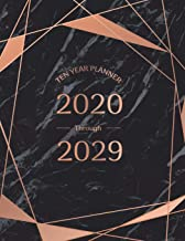 Ten Year Planner 2020 Through 2029: 10 Year Monthly Calendar Organizer Planner Notebook Diary with Holiday for Monthly Appointment Event Planning, Agenda Schedule