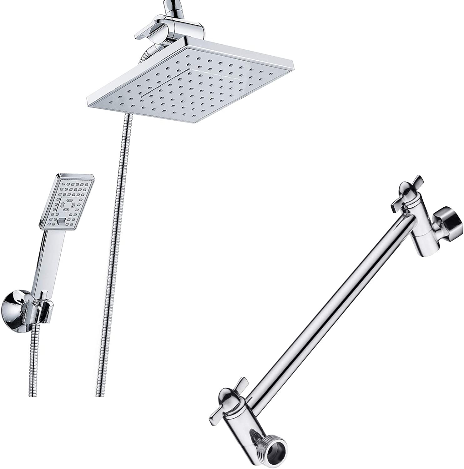BRIGHT SHOWERS Rain Shower Head Handheld Includes Max 55% OFF Wal Spray with shopping