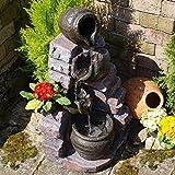 Zimmerbrunnen Gartenbrunnen Brunnen Zierbrunnen Brunnen Springbrunnen Vogelbad mit RGB Licht 230V