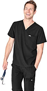 FIGS Chisec Three-Pocket Scrub Top for Men – Tailored Fit, Super Soft Stretch, Anti-Wrinkle Medical Scrub Top