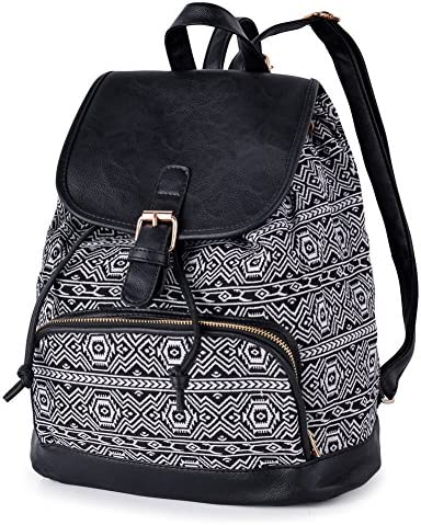 VBG VBIGER Canvas Backpack for Women Girls Cloth Backpack Purse Casual Daypack Travel Daypack product image