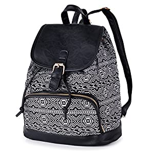 Canvas Backpack for Women & Girls Casual Daypack Book Bag