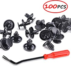 Angooni 100PCS Car Retainer Clips for Lexus Toyota, Engine Under Cover Replacement Fasteners with Fastener Remover Tool - Stronger Than Original OEM
