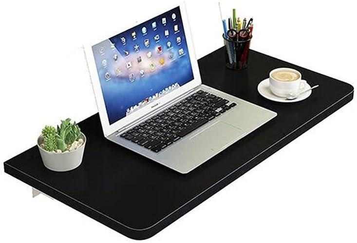 JNYZQ Table Pliante Murale Accueil Bureau d'ordinateur Mural Simple Bureau Petit Appartement (Couleur   Noir, Taille   80  50cm)