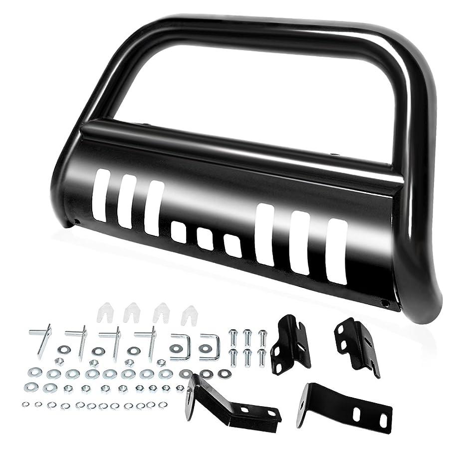 AUTOSAVER88 Bull Bar Compatible for 04-18 Ford F150 Black HD Heavyduty 3