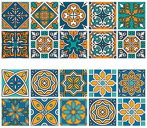 Keleily Baldosa Adhesiva Pared Baño 20 Piezas Cenefas Adhesivas Cocina Azulejos Adhesivos...