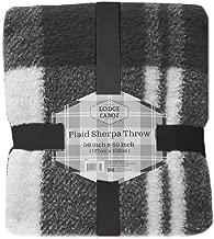 Posh Home Luxurious Plaid Printed Sherpa Ultra Soft Throw Blanket 50