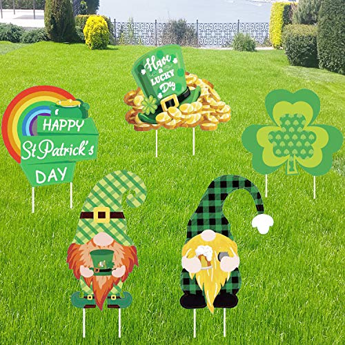 DmHirmg St Patricks Day Yard Sign Outdoor Decorations| St Patricks Day Decorations|Irish Saint Patty's Day Decorations | Saint Patty's Day Outdoor Decorations, Gnome Outdoor Decorations