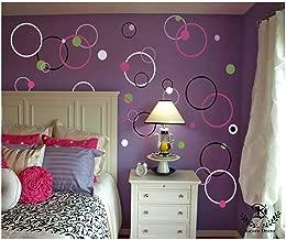 "Kayra Decor Circle Dot Bubble Reusable DIY Wall Stencil Painting for Home Decoration (PVC, 15"", 12"", 10"", 7.5"", 6"", 4.5"", 3.2"")"