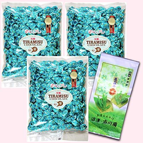 ピュアレ ティラミスチョコレート 元祖 500g×3袋セット おまけ茶付
