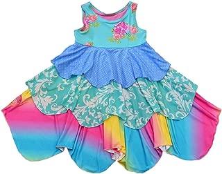 TwirlyGirl Kids Stylish Dresses Spinning Layers of Rainbow Flowers Polka Dots