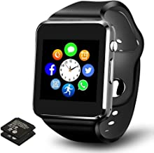 Smart Watch - Bluetooth Smartwatch Touch Screen Smartwatch Phone Fitness Tracker Watch SIM SD Card Slot Camera Pedometer Watch Compatible iPhone iOS Samsung LG Android Men Women Kids