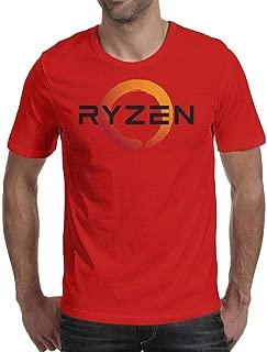 RYZEN Logo Mens Tees Short Sleeve T Shirt Crew Neck Blank Shirts Undershirt Cool T Shirts