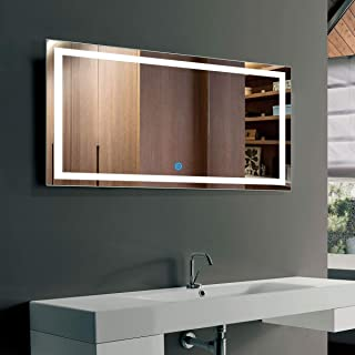 40 x 24 In Horizontal LED Bathroom Silvered Mirror with Touch Button (CK010-G)