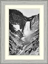 Framed Wall Art Print Yellowstone Falls, Yellowstone National Park, Wyoming. ca. 1941-1942 by Ansel Adams 18.75 x 24.75