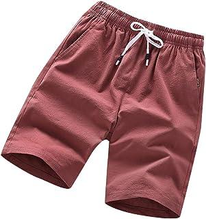 Men Sports Short Swim, Male Summer Fashion Loose Belt Drawstring Beach Shorts Pants Casual Pants