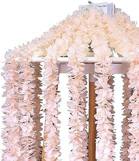 Artificial Flower Vines Trailing Flower Garland Hanging Vine String Plant,Home Garden Wall Stairway Wedding Hanging Decor,...