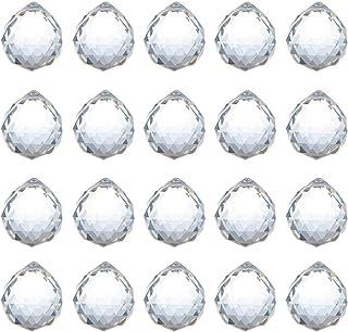 ADWIKOSO Crystal Ball Prism Pendant Glass Chandelier Hanging Pendant Feng Shui Suncatcher Wedding Home Window Décor (30mm-...
