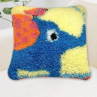 Crochet Loquet Kit Coussin Bricolage Main Craft Coussin Coussin Loquet Crochet Broderie Kit Home Décor Mignon bébé éléphan...