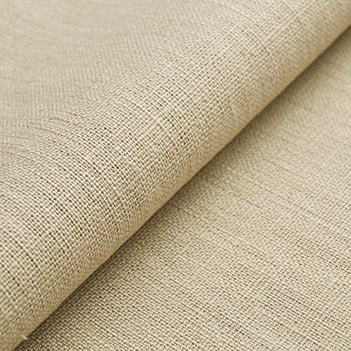 Auténtico Lino Ecológico BASIC - Tela de lino natural y pura - Por metro (Beige)
