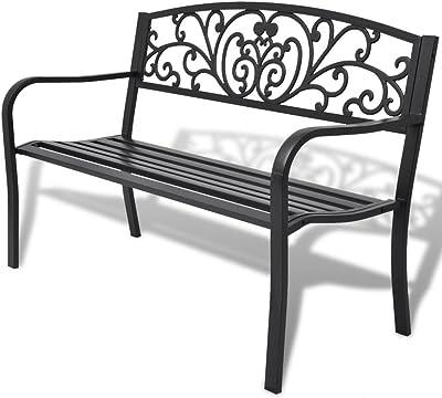 Furnituredeals Banco de jardín de hierro negra.La Banco Sono ergonómico Ed Elegante y Sara meravigliosa en el jardín: Amazon.es: Jardín