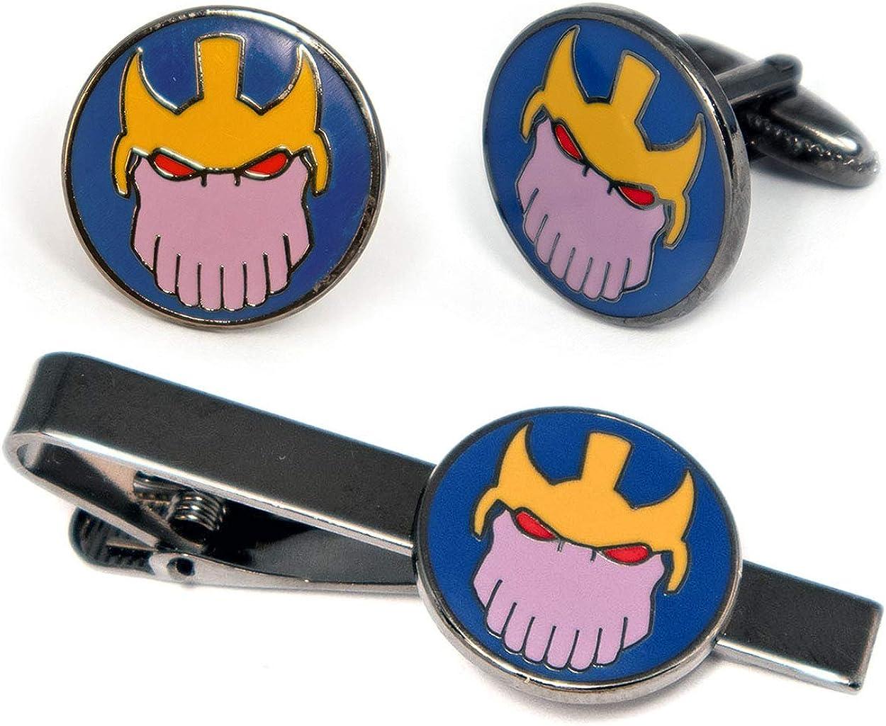 Thanos Cufflinks, Avengers Infinity Gauntlet Tie Clip, Infinity Stones Jewelry, Iron Man Tie Tack Geek Gifts, Minimalist Superhero Captain America Cuff Links Wedding Party Groomsmen Gift
