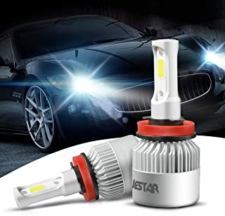 H11 LED Headlight Bulb 2PCS H8/H9/H11 36W 6500K 8000Lumens Cool White COB Chip LED CREE Car Fog Driving Light High Low Beam All-in- one LED Conversion Kit Waterproof