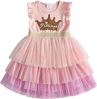 VIKITA Vestitos Bambina Principessa Unicorno Casuale Cotone Abiti
