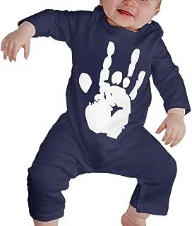 Newborn Baby Girl Infant Grateful Dead Jerry Hand Organic Cotton Bodysuit Sleepwear
