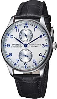 Fanmis White Dial Sapphire Seagull Movement Power Reserve Portugal Style Automatic Watch
