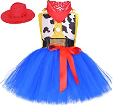 Cowgirl Tutu Dress Woody Costume Pageant Birthday Thanksgiving Christmas Toddler Girl Outfit