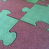 Salone Negozio Online Pavimento antitrauma in Gomma quadrotta Puzzle cm.4,5x50x50 Rosso- pz.16-4,00MQ