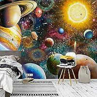 カスタム大3D壁画壁紙宇宙宇宙子供の寝室ギャラリー背景壁画フレスコ画サラ, 250cm×175cm