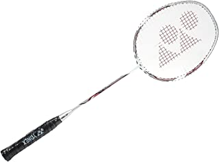 Yonex Nanoray 70DX Graphite Strung Badminton Racquet (White/Silver) with Full Cover
