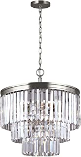 Sea Gull Lighting 3114004-965 Carondelet Four-Light Chandelier Hanging Modern Fixture, Antique Brushed Nickel