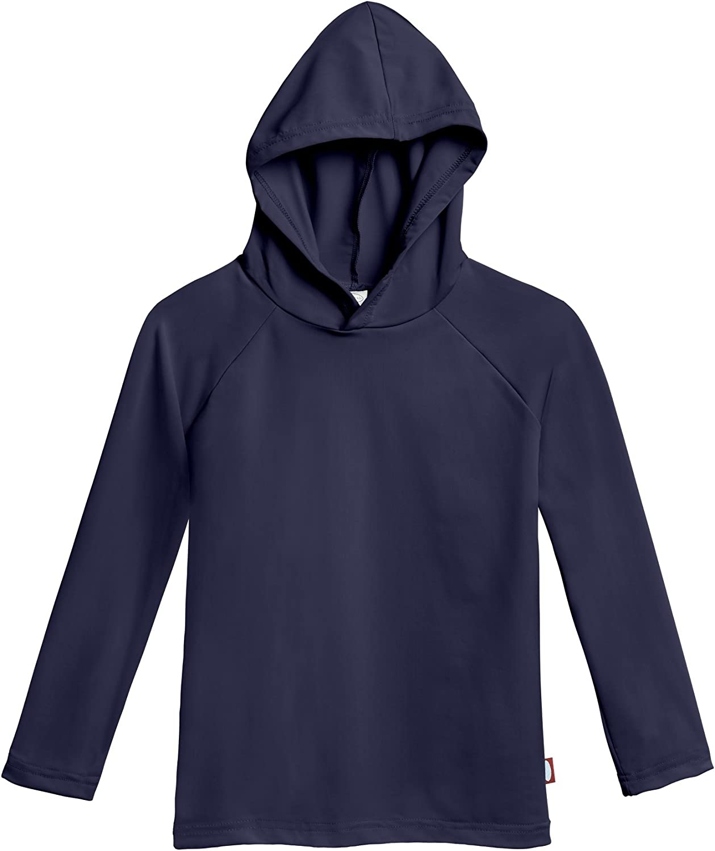 City Threads Boys' and Girls' SPF50+ Hood Rash Guard Sun Swimming Tee Protection
