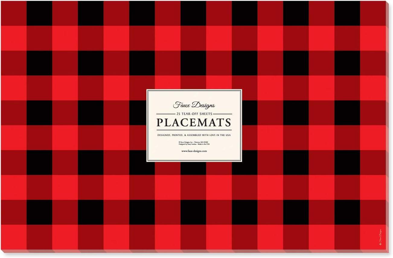 Buffalo Plaid 25 選択 Count Designer Cas Easy Placemats Elegant Paper 限定モデル
