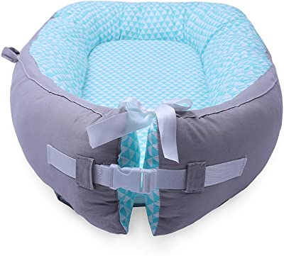 LOAOL Baby Portable Lounger Snuggle Infant Nest Bassinet Reversible Co Sleeping Cribs Newborn Bumper (BY-2011)