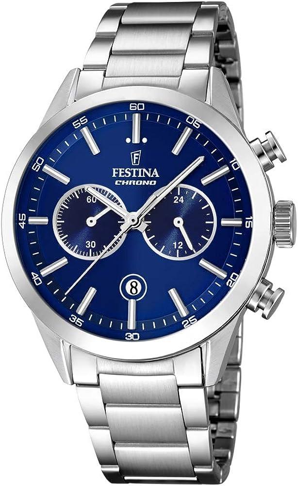 Festina orologio cronografo uomo in acciaio inossidabile F16826/B
