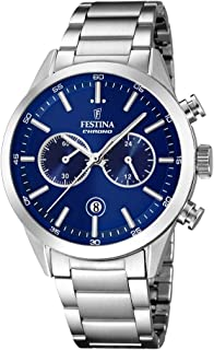 Festina Casual Watch For Men Stainless Steel Band F16826 B, Quartz, Analog
