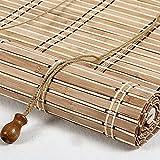 Persiana enrollable de bambú de estilo retro Estores de bambú Rollo bambú Ventanas natural Bamboo Blind para Ventana protector solar para ventanas y puertas Sombrilla,Personalizable (70 x 140 cm)