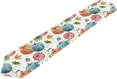 MOYYO Watercolor Bright Pumpkin Table Runner 13 x 70 Inch Polyester Table Cloth Runner Coffee Living Room Table Runner Decor
