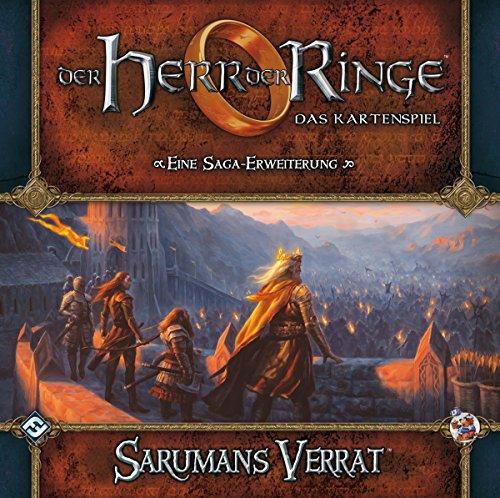 Fantasy Flight Games FFGD2630 Herr der Ringe: LCG-Sarumans Verrat Saga-Erweiterung DEUTSCH Kartenspiel