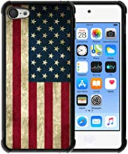 for iPod Touch 7 / iPod Touch 6/ iPod Touch 5 Case Us Grunge Flag Pattern, ABLOOMBOX Shock Soft Bumper Slim Rubber Pro Maxtective Case with Reinforced for iPod Touch 7th 6th 5th Case