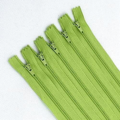 YANME 50 cremalleras cerradas de nailon para costura artesanal, 20 colores, 3 # 4 pulgadas (10/15/18/20/25/30/35/40/50/55/60 cm)