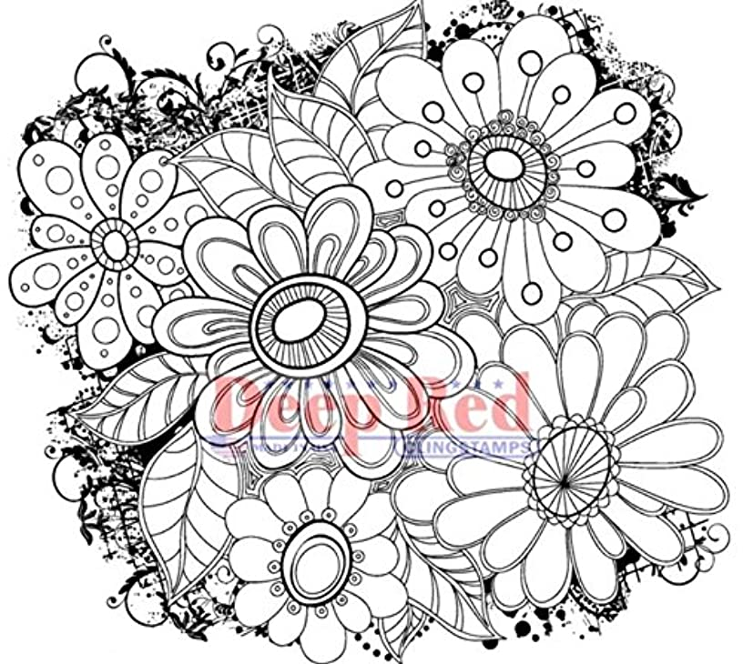 Deep Red Stamps 4X505534 Cling Stamp, 3