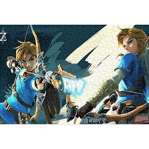 CHDBB Rompecabezas para Adultos Puzzle de 1000 Piezas The Legend of Zelda: Breath of The Wild Rompecabezas Imposible Adventure Game Rompecabezas del desafío del Cerebro 38x26cm