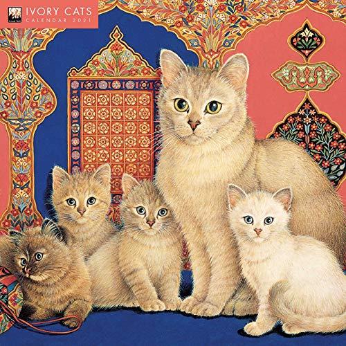 Ivory Cats by Lesley Anne Ivory Wall Calendar 2021 (Art Calendar)